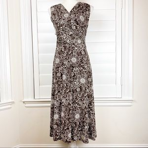 Style & Co Empire Waist Brown/White Career dress
